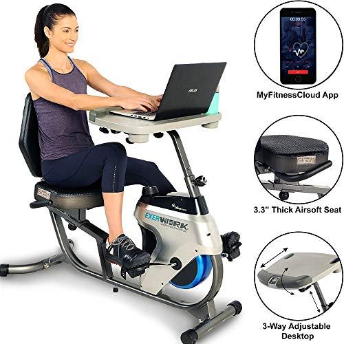 EXERPEUTIC 2500 Adjustable Desk Recumbent Exercise Bike