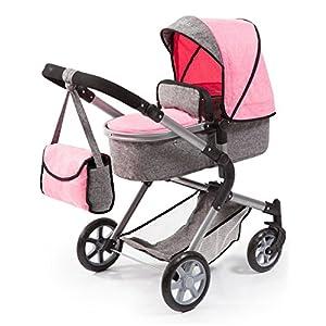 Bayer Design 18125AA - Cochecito de muñecas City Neo, convertible, rosa, gris
