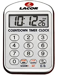 Lacor 60804 - Reloj de cocina con alarma