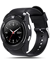 SoloKing T80 Smartwatch Reloj Inteligente Telefono con Cámara,TF / tarjeta SIM Contador de pasos