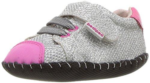 pediped Jake, Baby Mädchen Krabbelschuhe & Puschen, Silber - Silberfarben - Größe: 20 (Baby Pedipeds Schuhe)