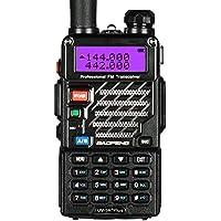 BaoFeng Plus Qualette Talkie-Walkie VHF/UHF 2 m/70 cm Radio (Noir)