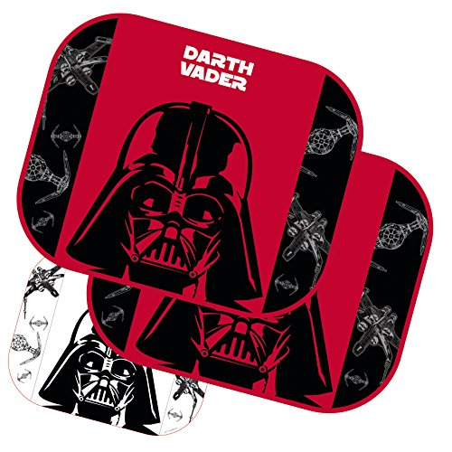 2x Sonnenschutz Auto - Star Wars Sonnenrollo Kinder Darth Vader Stormtrooper Rollo