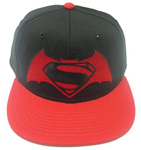 Batman vs Superman Cap Contrast Logo Dawn Of Justice Baseball Snapback Cap Mütze Schirmmütze DC - Dc-mütze