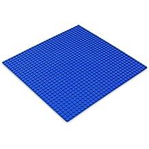 Katara - Plancha de construcción de piezas para niños, 32 x 32 pernos, talla 25,5 x 25,5 cm, color azul