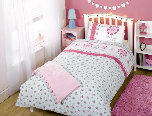 Pippa Flowers Single Duvet Cover and Pillowcase Set