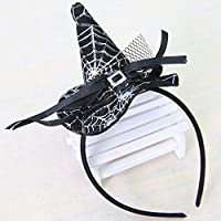 Lovelysunshiny Bruja de Navidad Cabeza Hebilla Accesorios de Halloween Sombrero de Bruja Colorido Diadema