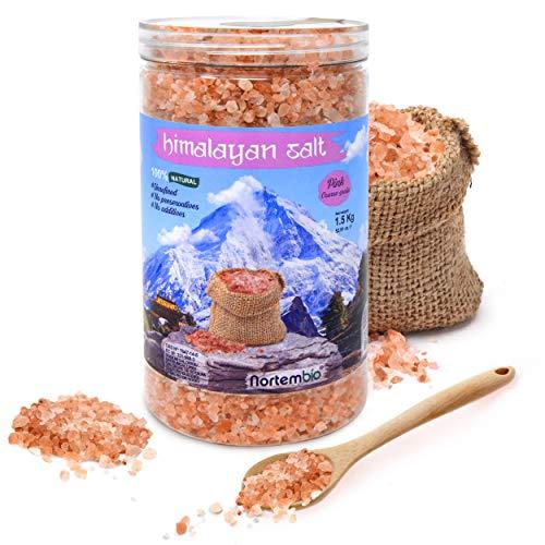 Nortembio Sal Rosa del Himalaya 1,5 Kg. Gruesa (2-5 mm). 100% Naturales. Sin Refinar. Sin...