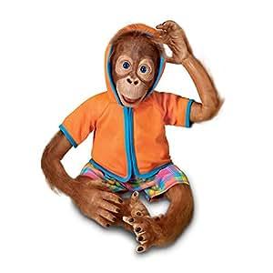 'jollie' orang-outan Enfant Poupée par Waltraud Hanl