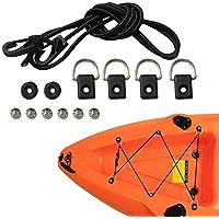 Favourall Kayak Angeln Takelage D - Kit de tornillos de anillo resistentes a la corrosión y ligero canoa