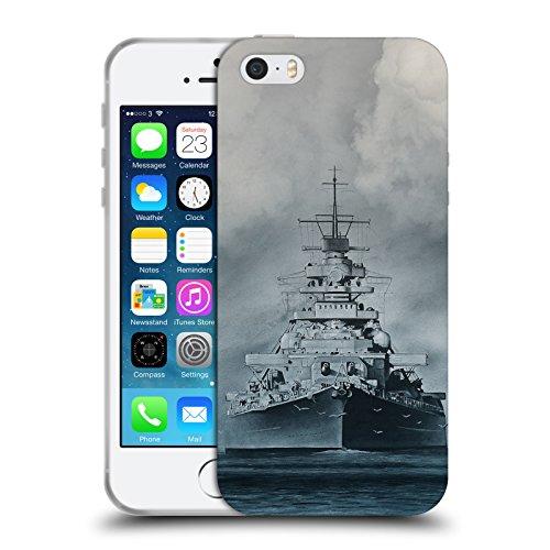 Head Case Designs Offizielle Rainer Kalwitz Kriegsschiff Bismarck Geheimnis Soft Gel Hülle für Apple iPhone 5 iPhone 5s iPhone SE