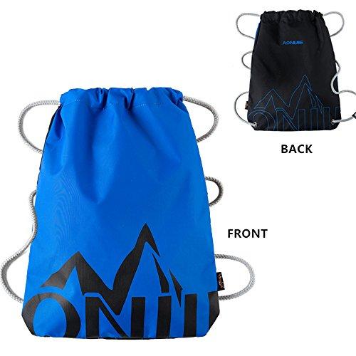 Imagen de aonijie   de cordones para niños impermeable, para la escuela o el gimnasio, para deporte, nadar, danza, zapatos , blue&black
