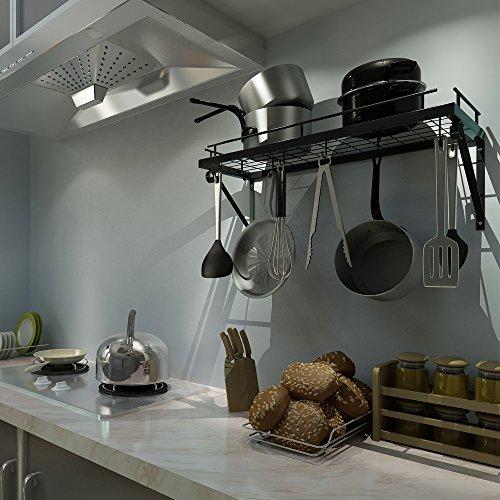 Zpoka griglia porta pentole da cucina da muro con 10 ganci - Appendi pentole cucina ...