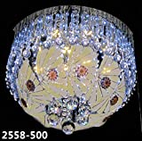 Generic LED Glass Chandelier with Bluetooth Music System USB Connection with 1 Filament