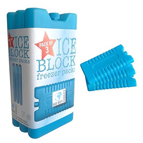 3pk del congelador bloque - mantiene su comida o bebidas fresco en...