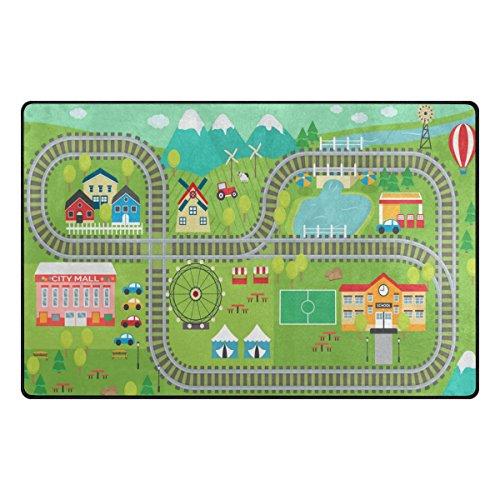 Bennigiry Kinder ABC Teppich Bereich Teppich Teppich Rutschfeste Eintrag Bodenmatte Fußmatten für...