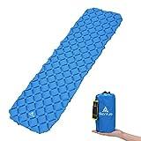 Camping Isomatte Kleines Packmaß von Hikenture® - Ultraleichte Aufblasbare Isomatte - Sleeping Pad für Camping, Reise, Outdoor, Wandern, Strand (Grün Blau)