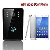 Smart WiFi Video Türklingel für Smartphones und Tablets, drahtlose Video-Türsprechanlage, IP-Wi-Fi-Kamera Unterstützung Smartphone P2P Remote Access