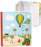 alles-meine.de GmbH Notizbuch / Tagebuch -  lustige Erdmännchen  - blanko weiß - 96 Seiten - Dickes Buch gebunden - Reisetagebuch / Poesiealbum - Softcover / Fotobuch selbst ge..
