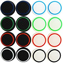 Pandaren® thumb grip caps 16 unidades noctilucentes Pack para PS2, PS3, PS4, Xbox 360, Xbox One, Wii U mando