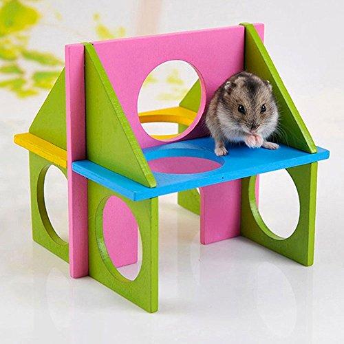Preisvergleich Produktbild Haus Hamster Holz Spielhaus Spaß Relax Fitnessstudio für Hamster HAMSTER