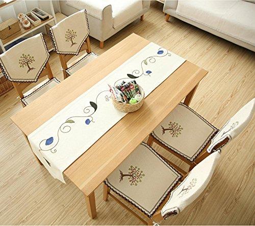 ADDMAT® Tischläufer Stickerei Tisch Flagge Stoff einfache Pflanze Blume Gartentisch Flagge , 40*220 (Silk Tisch-pflanzen)