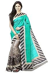 BuyOnn Women's Cotton Silk Saree (Party Wear Saree_Multi-Coloured)