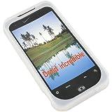 White Silicon Case Handy Schutz Hülle Tasche für HTC Wildfire