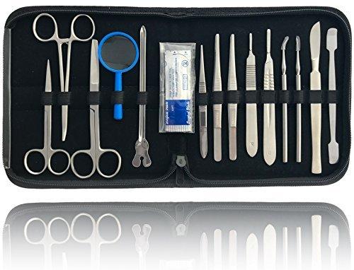 Präparierbesteck Sezierbesteck Set zum Präparieren mit Instrumenten aus Edelstahl (Edelstahl Skalpell)