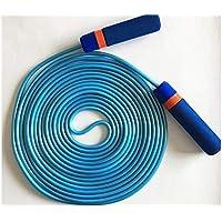 LridSu Cuerda de Salto Extra Larga de plástico de Goma Jump Rope Sports Competition Skipping (Azul) (Color : Azul, tamaño : 5m)