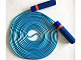 Yyanliii Durevole Corda per saltare extra di gomma in plastica Team Jump Rope Competizione sportiva Skipping (blu)