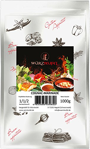 XO Cognac - Pfeffer Marinade, aromatische Grill - Marinade für echt gute Rinder - Steaks & Pulled Pork. Beutel 1000g. (1KG)