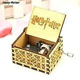 SAMMZN Boîte à Musique Harry PotterClassique Sculpté à Manivelle en Bois Cadeaux d\'anniversaire Décoration d\'ornement (Machine Semi-Manuelle