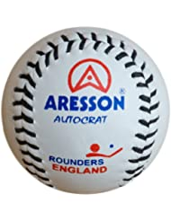 Aresson Autocrat Leather Rounders Ball White