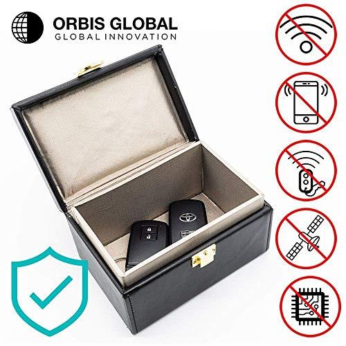 Orbis Global Inhibidor de frecuencia para coche Jaula de Faraday antirrobo para coche Seguridad del coche RFID Protector de Faraday Llavero para coche Funda de Faraday para Llaves de coche