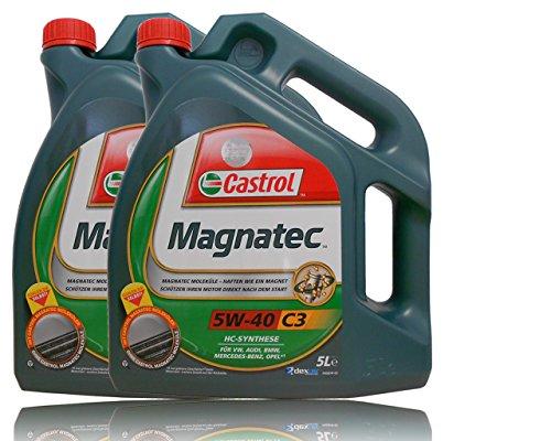 2 x 5 L = 10 litres de castrol magnatec 5W – 40 huile moteur moteurs-c3 castrol huile huile avec pendentif-particularités : /aPI sN cF, mB-aCEA c3; freigabe 229.31, vW 501 00 505/00, bMW longlife – 04; rN0700/renault 0710, dexos2 ®; meets fiat 9.55535–s2 pas cher