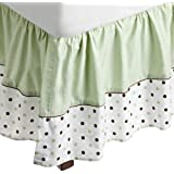 American Baby Company Fashion Crib Skirt, Celery Dots by American Baby Company