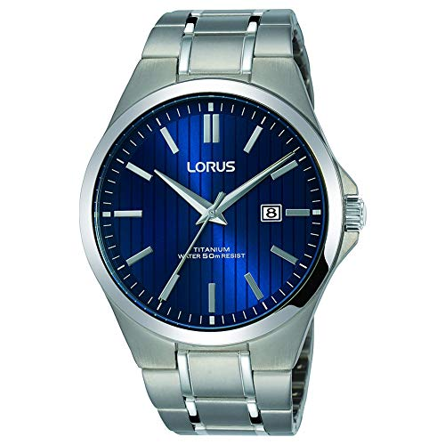 Lorus Mens Analogue Classic Quartz Watch with Titanium Strap RH993HX9