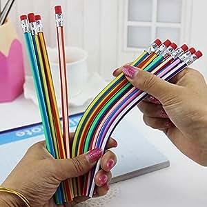 10PCS morbido matite Magic non-broken pennino flessibile Bendy matita pieghevole giocattolo per bambini scuola regalo (colore casuale)