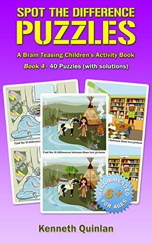 Spot the Difference Puzzles: A Brain Teasing Children's Activity Book - Book 4 (English Edition)