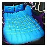 Matelas pneumatique, coussin de couchage de rangée arrière de voiture Matelas pneumatique, matériau de PVC de coussin de camping de voyage de lit de voiture imperméable antidérapant, avec 2 oreillers