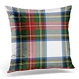 Daisylove écossais coloré Stewart Dress Tartan décoratifs Taie d'oreiller Home Decor carré 45,7x 45,7cm 45cm