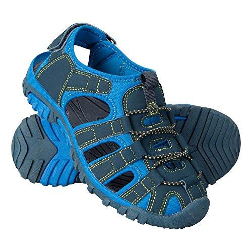 Mountain Warehouse Bay Kids Shandals - Neoprene Shoes Sandals, Comfortable Childrens Flip Flops, Midsole, Adjustable Summer Shoes -Ideal Footwear for Walking, Travelling Dark Blue 2 Child UK