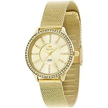 B21149/3 Reloj Marea Señora, Dorado caja y brazalete, Bisel Circonitas, numeros con piedras