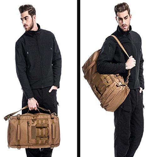 LF&F Backpack Camping outdoor Zaini Borse Zaino multiuso multifunzione borsa pacchetto diagonale 45 L di grande capacità solido e durevole impermeabile strappo zaino tattico di camuffamento A4 45L B2
