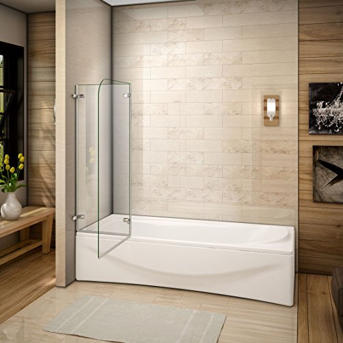 51VZukLYI2L - 110x140cm Mamparas/pantalla para bañera biombo baño plegable de Aica