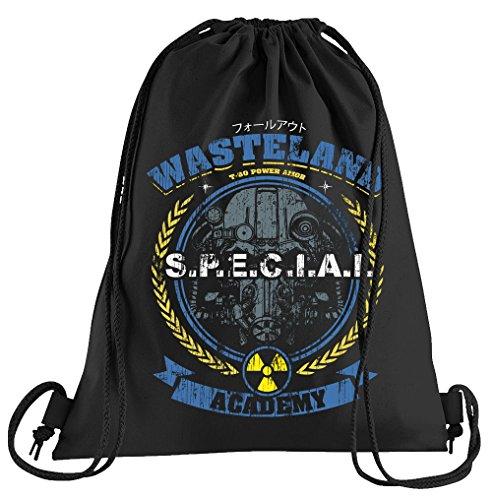 T-Shirt People Wasteland Sportbeutel - Bedruckter Beutel - Eine schöne Sport-Tasche Beutel mit Kordeln (Battlefield Vault)