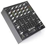 Skytec STM-7010 Table de Mixage DJ 4 canaux - USB , Jack 3,5 , Interrupteur Talkover , Crossfader remplaçable , Sortie Booth réglable , Console de mixage haut de gamme
