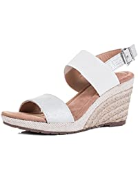 84fc9a723f6 Spylovebuy Kalahari Women's Open Peep Toe Wedge Heel Espadrille Barely  There B78Sandals Shoes