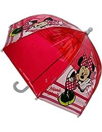 Disney Minnie Mouse - Enfants parapluie transparent - Couleur Rouge